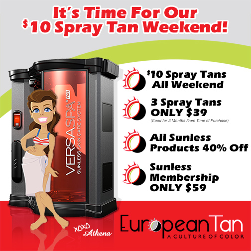 Salt Lake City Sunless Spray Tan European Tan